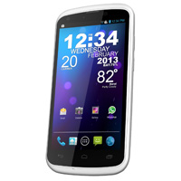 BLU Tank 4.5 W110a Unlocked GSM Dual-SIM Android Cell Phone - White