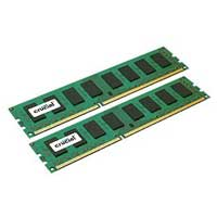 Crucial 8GB DDR3-1600 (PC3-12800) CL11 Desktop Memory Kit (Two x 4GB Memory Modules)