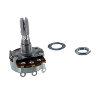 MCM Electronics 500K Ohm, 1/2W Audio Taper Potentiometer - 2 Pack