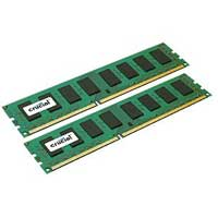 Crucial 16GB Kit DDR3-1333 (PC3-12800) CL11 Unbufferred Desktop Memory Kit (Two 8GB Memory Modules)