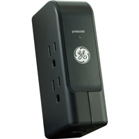GE 3 Outlet Travel Surge Protector 350 Joules with USB Ports
