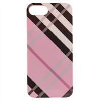 WinBook Protection Case for iPhone 5/5s - Tartan Pink