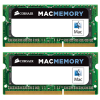 Corsair 8GB DDR3-1066 (PC3-8500) CL7 Dual Channel SO-DIMM Laptop Memory Kit (Two 4GB Apple Memory Modules)
