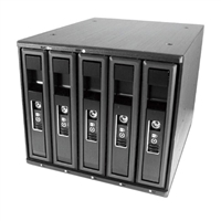 "Vantec EZ Swap M3500 5-Bay 3.5""/2.5"" SATA/SAS HDD/SSD Mobile Rack"