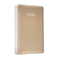 HGST Touro S 500GB 7,200 RPM USB 3.0 - 3GB of Cloud Storage Ultra-Portable External Hard Drive - Gold