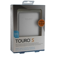 HGST Touro S 500GB 7,200 RPM USB 3.0 - 3GB of Cloud Storage Ultra-Portable External Hard Drive - Silver
