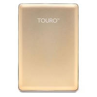 HGST Touro S 1TB 7,200 RPM USB 3.0 - 3GB of Cloud Storage Ultra-Portable External Hard Drive - Gold