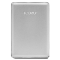 HGST Touro S 1TB 7,200 RPM USB 3.0 - 3GB of Cloud Storage Ultra-Portable External Hard Drive - Silver