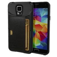 CM4 Q Card Wallet Case for Samsung Galaxy S5 - Black Onyx
