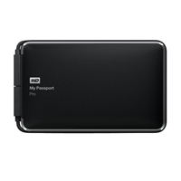 WD My Passport Pro 4TB Thunderbolt Portable External Hard Drive for Mac - Black