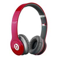 Beats Solo HD On Ear Headphone Refurbished - Matte Red