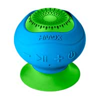 HoMedics Wireless Suction Speaker - Blue/Green