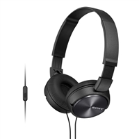 Sony MDR-ZR310AP/B ZX Series On Ear Stereo Headset - Black