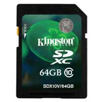 Kingston 64GB CLASS 10 FLASH SDXC