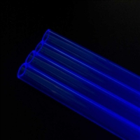 PrimoChill 1/2 in. Rigid Acrylic Tube 24 in. 2x Pack - UV BLUE