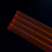 PrimoChill Rigid Acrylic Tube 24 in. 2x Pack - Red