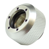 "PrimoChill G 1/4"" Rigid Revolver Diamond Knurled Compression Fitting - Anodized Silver"