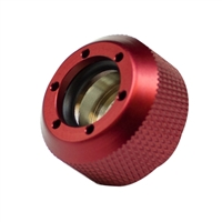 PrimoChill Rigid Revolver Diamond Knurled Grip - Anodized Red
