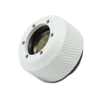 PrimoChill Rigid Revolver Diamond Knurled Grip - Anodized White