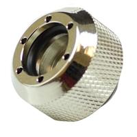 PrimoChill Rigid Revolver Diamond Knurled Grip - Nickel Plated Brass Silver
