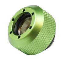 "PrimoChill G 1/4"" Rigid Revolver Diamond Knurled Compression Fitting - Anodized Green - 4 Pack"