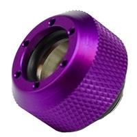 """PrimoChill G 1/4"""" Rigid Revolver Diamond Knurled Compression Fitting - Anodized Purple - 4 Pack"""