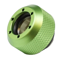 "PrimoChill G 1/4"" Rigid Revolver Diamond Knurled Compression Fitting - Anodized Green"