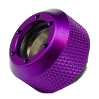 """PrimoChill G 1/4"""" Rigid Revolver Diamond Knurled Compression Fitting - Anodized Purple"""