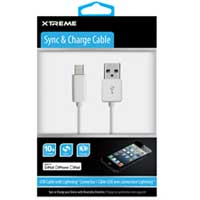 Xtreme Cables 10ft White Sync & Charge Cable