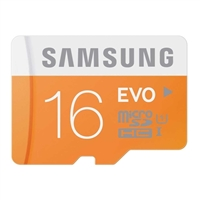 Samsung 16GB microSD Class 10 / UHS-1 Flash Memory Card with Adapter