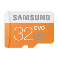 Samsung 32GB Class 10 EVO Secure Digital Micro SD Memory Card with Adapter