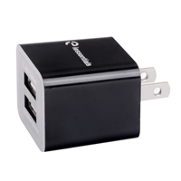 iEssentials 3.4 AMP Dual USB Wall Charger - Black