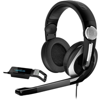Sennheiser PC 333D 7.1 Dolby Surround Sound PC Gaming Headset - Black/Silver