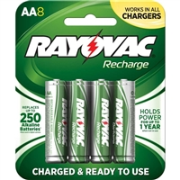 Rayovac AA Rechargeable Battery 8-Pack
