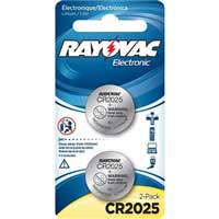 Rayovac Lithium Keyless Entry Battery KECR2025-2A 2-Pack