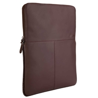 "STM Leather Sleeve Fits Screens up to 13"" - Brown"