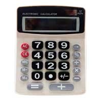 Sentry Industries Jumbo Key Desktop Calculator - White