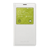 Samsung Wireless Charging (Qi) S-View Flip Cover for Galaxy S V - White
