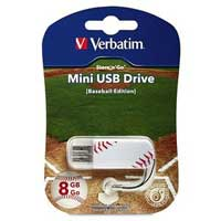 Verbatim 8GB Store 'n' Go Sports Edition Mini USB Drive Baseball