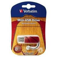 Verbatim 8GB Store N Go Sports Mini USB 2.0 Flash Drive - Basketball