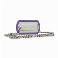 Verbatim 8GB Dog Tag USB Flash Drive - Violet