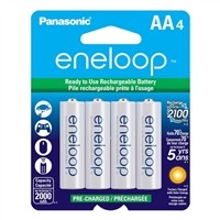 Eneloop AA NiMH 2000mAh Pre-Charged Rechargeable Batteries 4-Pack