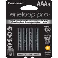 Eneloop AAA NiMH 950mAh Rechargeable Pro Series Batteries, 4-Pack