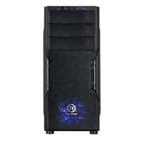 Thermaltake Versa H22 Special Edition Blue LED ATX Mid-Tower Computer Case - Black