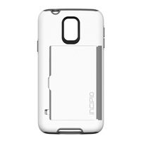 Incipio Technologies Stowaway Credit Card Case w/ Integrated Stand for Samsung Galaxy S V - White/Gray