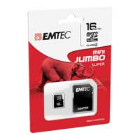 Emtec International 16GB microSDHC Class 4 Flash Memory Card with Adapter
