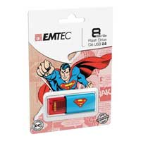 Emtec International 8GB C600 Superman USB 2.0 - Blue/Red