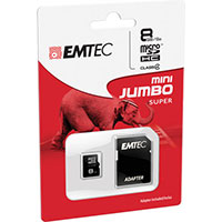 Emtec International 8GB microSDHC Class 4 Flash Memory Card with Adapter