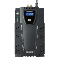 CyberPower Systems Intelligent LCD 825VA UPS w/ AVR, 8-Outlets, USB/Serial Ports, & RJ45/Coax Protection