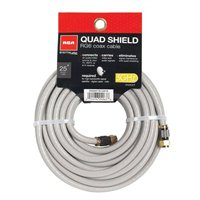 RCA Coax Male to Coax Male RG-6 Quad Shielded Cable 25 ft. - Gray